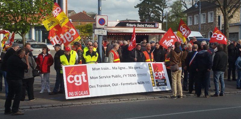 Ligne St-Pol-Etaples : manifestation ce lundi et questionnaire aux usagers