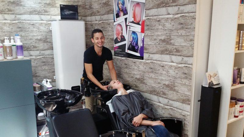 Mathieu Benoît a déjà trouvé sa clientèle et rebaptise son salon Styl'hair