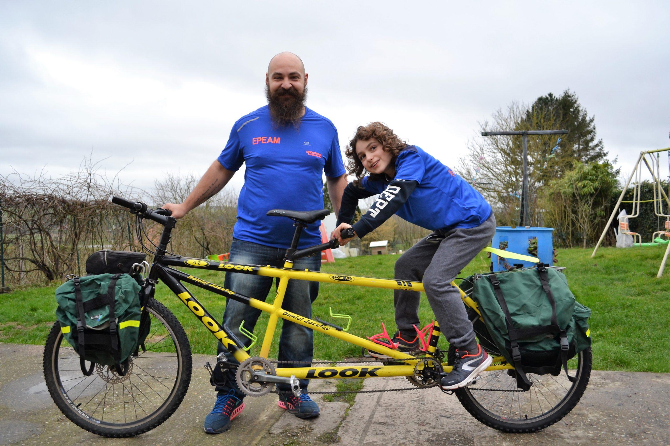 La team Frédéric, un tandem de choc prêt à parcourir «1000 km pour l'autisme»