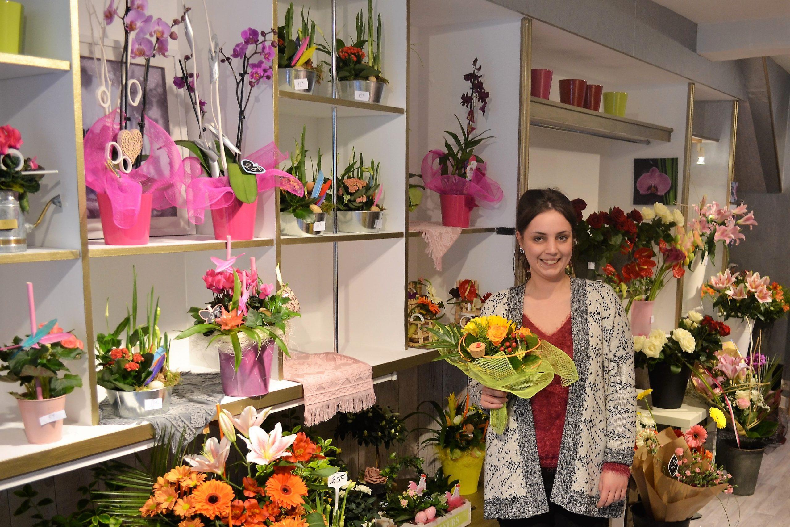St-Pol : Gwendoline Mortier installe sa Bulle Fleurie rue d'Hesdin
