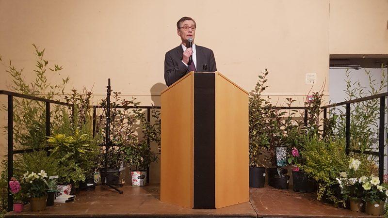 Maire de Saint-Pol et candidat, Maurice Louf joue l'équilibriste lors de la cérémonie des vœux