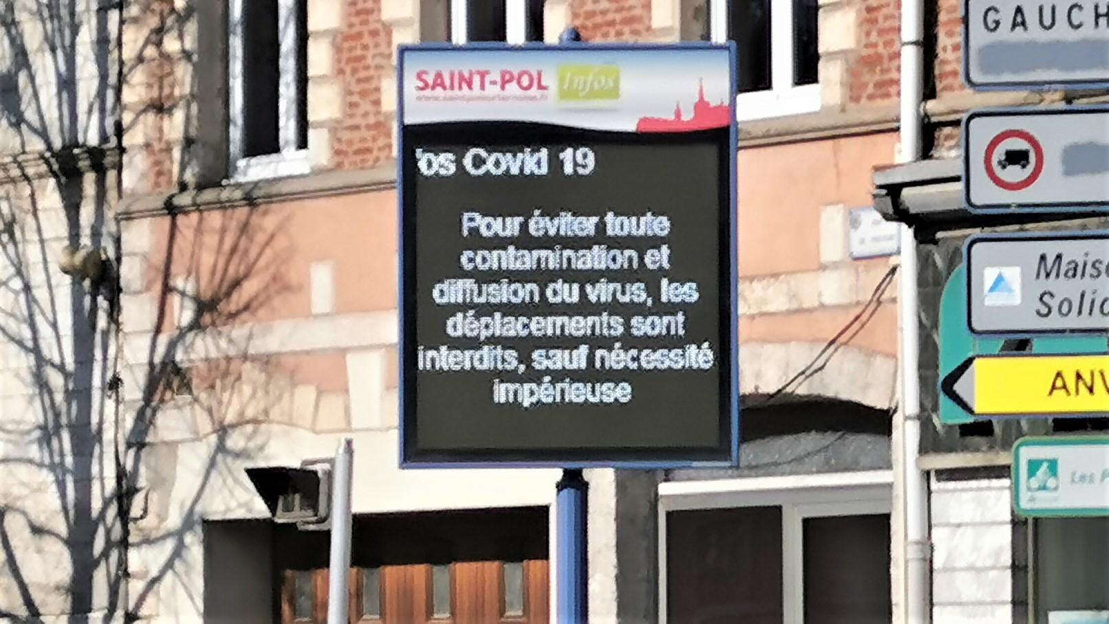 Deux suspicions de COVID-19 signalées à Saint-Pol : une mère et son fils confinés