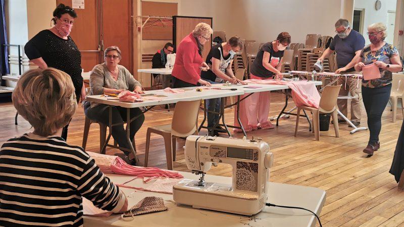 Un atelier de confection de masques pour les habitants d'Heuchin