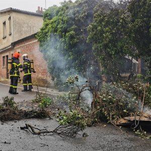 Incendie et explosion dans une maison abandonnée de Gauchin-Verloingt