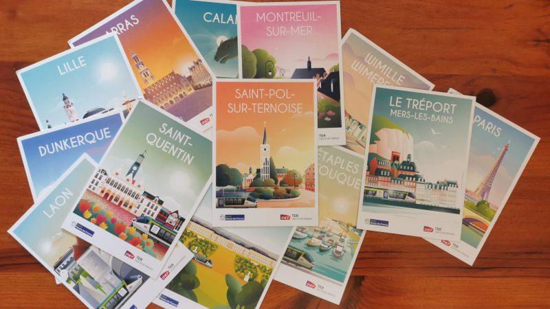 Saint-Pol rejoint la collection de cartes postales SNCF des plus belles destinations des Hauts-de-France