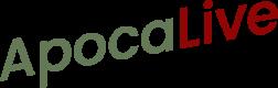 Apocalive Logo Vert et rouge